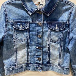 Jackets & Coats - EMBELLISHED SHORT BLUE JEANS DENIM JACKET